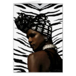Belleza negra de Ghana Tarjeta De Felicitación