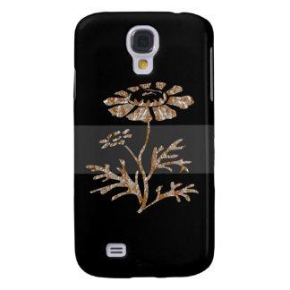 Belleza negra floral grabada plata del oro n