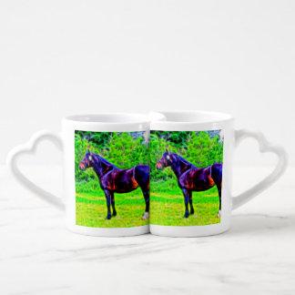 Belleza negra set de tazas de café