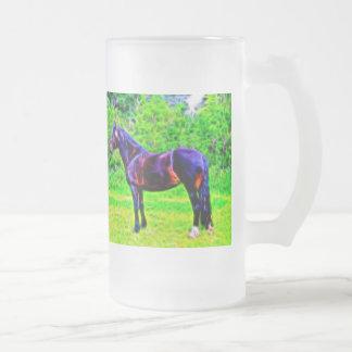 Belleza negra taza de cristal