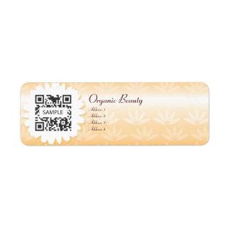 Belleza orgánica de Tempate de la etiqueta de Etiqueta De Remitente
