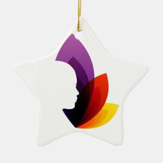 Belleza orgánica adorno de cerámica en forma de estrella