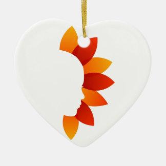 Belleza orgánica adorno de cerámica en forma de corazón