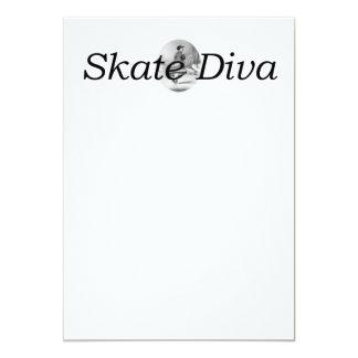 Belleza patinadora SUPERIOR Invitación 12,7 X 17,8 Cm
