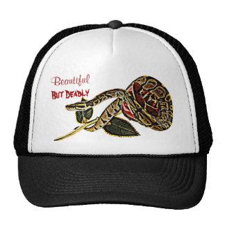 Belleza peligrosa del gorra de la serpiente del pi