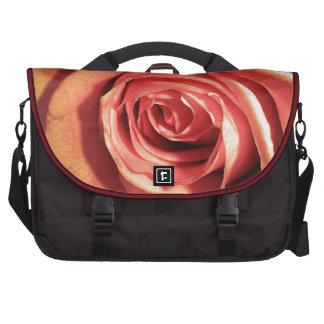 Belleza perfecta subió Rojo-Naranja Bolsas De Ordenador