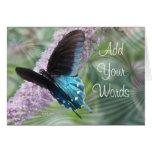 Belleza-personalizar de la mariposa felicitaciones