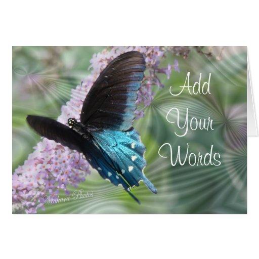 Belleza-personalizar de la mariposa tarjeta de felicitación