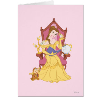 Belleza que lee a los amigos tarjeta