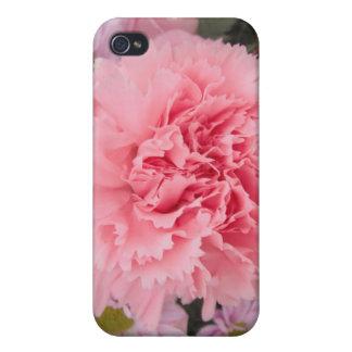 Belleza rosada del clavel del asunto 4/4 de Iphone iPhone 4/4S Carcasas