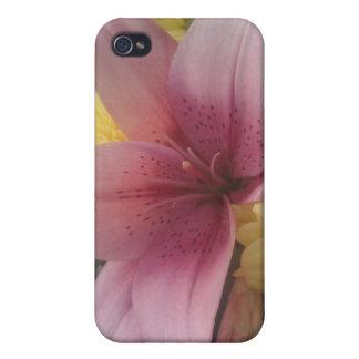 Belleza rosada del lirio del asunto 4/4 de Iphone iPhone 4/4S Funda