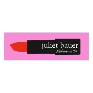 Belleza rosada intrépida del logotipo del lápiz tarjetas de visita mini