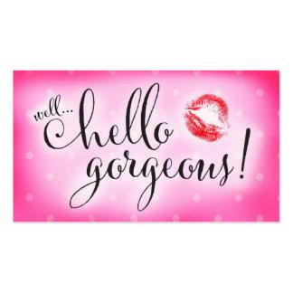 Belleza rosada magnífica del labio de 311 pozos ho tarjetas de visita