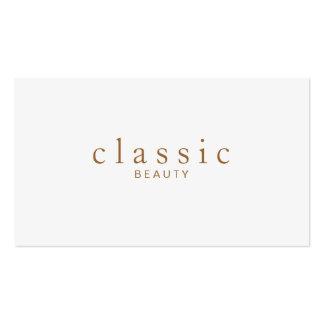 Belleza simple y clásica Minimalistic gris claro Tarjetas De Visita