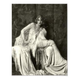 Belleza temprana del francés de los 1900s impresión fotográfica