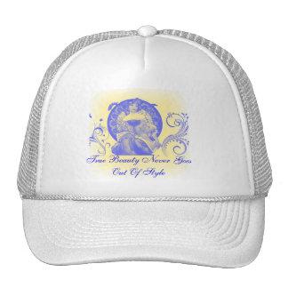 Belleza verdadera en azul gorras