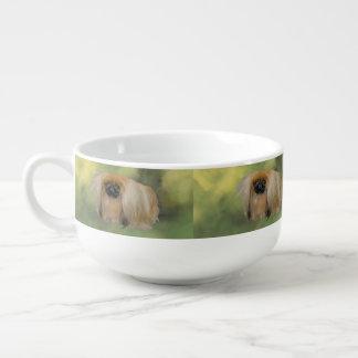 Belleza verde bol para sopa