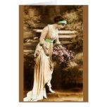 Belleza VII del vintage Tarjeton