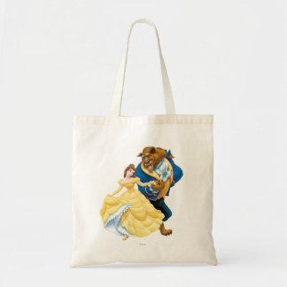 Belleza y bestia bolsa lienzo