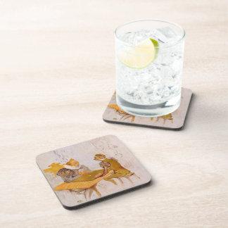Belleza y bestia de Enrique de Lautrec- The el Bez Posavasos De Bebidas