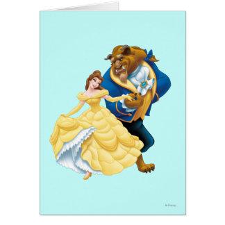 Belleza y bestia tarjeta de felicitación