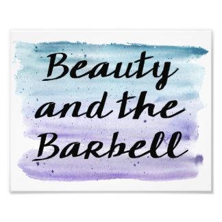 Belleza y el Barbell Fotografías