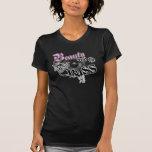 Belleza y el logotipo bajo bajo de la música de lo camisetas