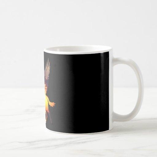 Belleza y el unicornio taza de café