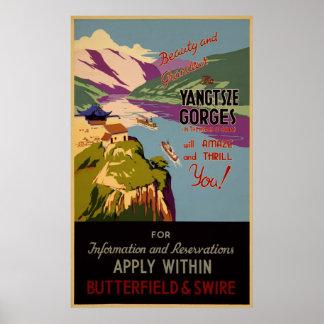 Belleza y grandeza - el Yangtze gorges el poster