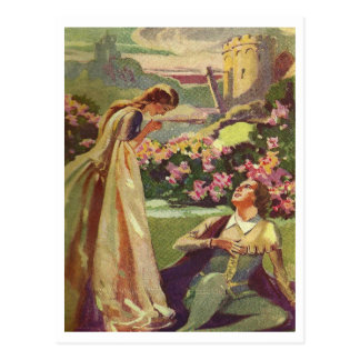 Belleza y la bestia tarjeta postal