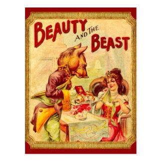 Belleza y la bestia tarjetas postales