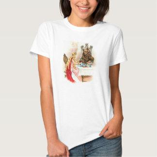 Belleza y la camiseta de la imagen del vintage de playeras