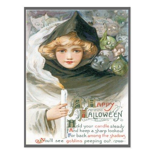 Belleza y la postal del vintage de los Goblins