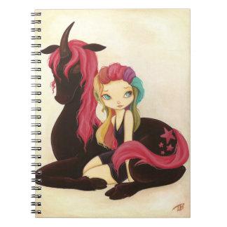 Belleza y noche - cuaderno de hadas del unicornio