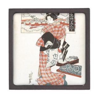 Belleza y río de Sumida - Edo Meisho Bijin Awase Cajas De Joyas De Calidad