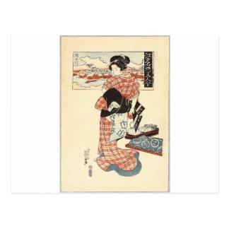 Belleza y río de Sumida - Edo Meisho Bijin Awase Postales