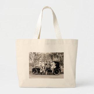 Bellezas 1918 del vintage de los chicas de Mack Bolsa Tela Grande