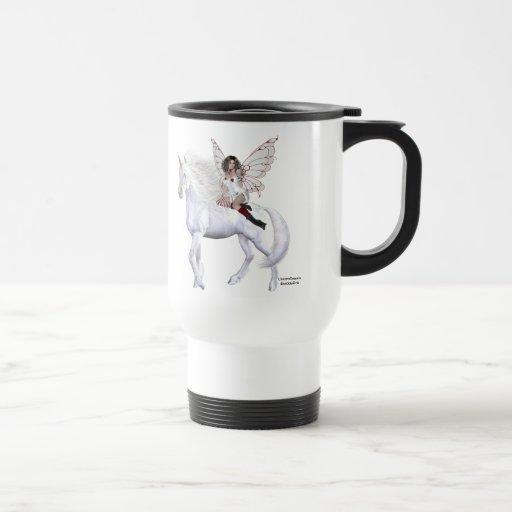 Bellezas 7 del unicornio del ángel taza de viaje de acero inoxidable