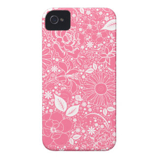 Bellezas botánicas rosas claras, caso del iPhone Case-Mate iPhone 4 Cobertura