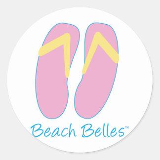 Bellezas de la playa pegatina redonda