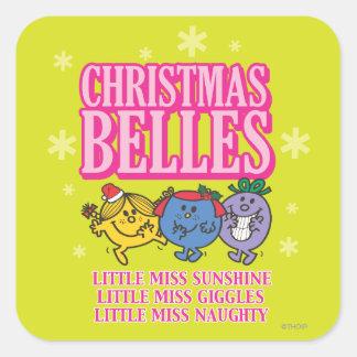 Bellezas del navidad pegatina cuadradas personalizada