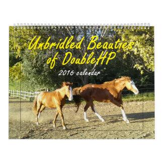 Bellezas desenfrenadas del calendario de DoubleHP