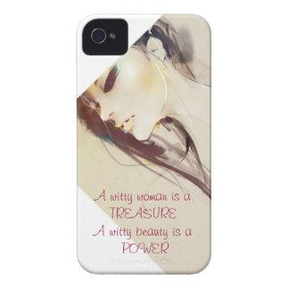 Bellezas ingeniosas iPhone 4 Case-Mate cobertura
