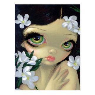 Bellezas venenosas II Postal del Oleander blanco