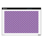 """Bellflower-And-White-Polka-Dots 17"""" Laptop Decal"""