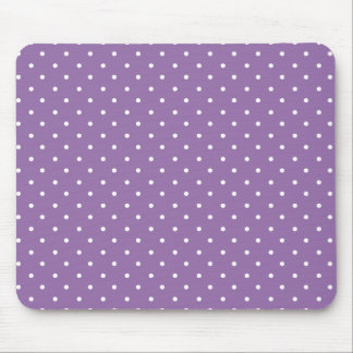 Bellflower-And-White-Polka-Dots Mouse Pad