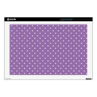 Bellflower-And-White-Polka-Dots Laptop Decals
