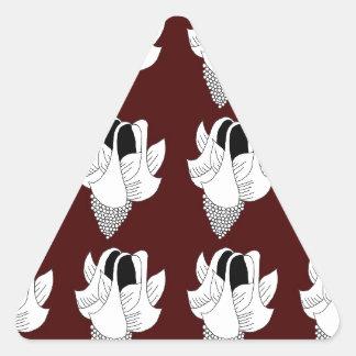 bellflower - brown triangle sticker
