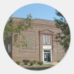 Bellflower, escuela histórica de Missouri Pegatina Redonda