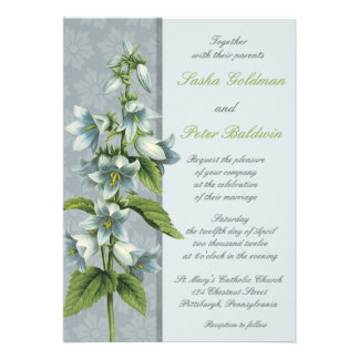 Bellflower Floral Wedding Invitation